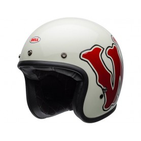 Casques BELL CASQUE BELL CUSTOM 500 DLX SE RDS WFO BRILLANT BLANC/ROUGE 800000660268