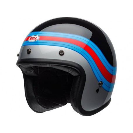 Helmets BELL CASQUE BELL CUSTOM 500 ACE CAFÉ STADIUM GLOSS SILVER/RED/BLACK 800000670168
