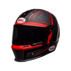 Casques BELL CASQUE BELL ELIMINATOR HART LUCK MAT BRILLANT NOIR/ROUGE/BLANC 800000980168