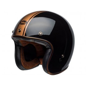 Casques BELL CASQUE BELL CUSTOM 500 DLX RALLY BRILLANT NOIR/BRONZE 800000974968