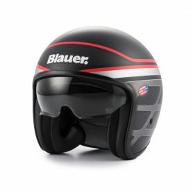 Jets Helmets BLAUER BLAUER PILOT 1.1 GRAPHIC B BLACK MATTE/RED HELMET BLCJ201
