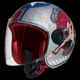 Helmets PREMIER CASQUE PREMIER LE PETIT VISOR PIN UP OLD STYLE SILVER LE PETIT VISOR PIN UP OS SILVER