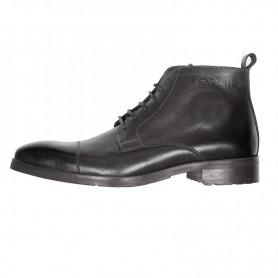 Men's Boots HELSTONS DEMI-BOTTES HELSTONS HERITAGE CUIR ANILINE CIRÉ NOIR 20180068 NCI
