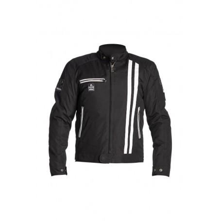 Men's Jackets HELSTONS BLOUSON HELSTONS COBRA TISSU TECHNIQUE NOIR BLANC 20190036 NBC