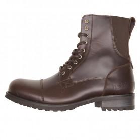 Men's Boots HELSTONS DEMI-BOTTES HELSTONS STEVE CUIR ANILINE & STRETCH MARRON 20190044 M