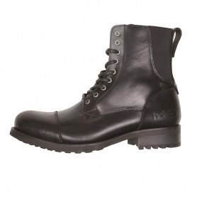 Men's Boots HELSTONS DEMI-BOTTES HELSTONS STEVE CUIR ANILINE & STRETCH NOIR 20190044 NO