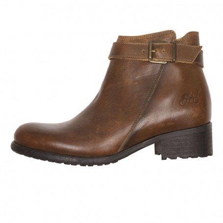 Women's Boots HELSTONS DEMI-BOTTES HELSTONS LISA CUIR ANILINE MARRON 20190045 M