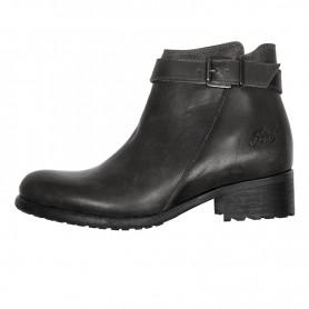 Women's Boots HELSTONS DEMI-BOTTES HELSTONS LISA CUIR ANILINE NOIR 20190045 NO