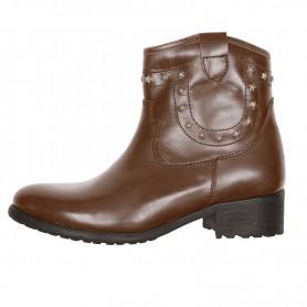 Women's Boots HELSTONS DEMI-BOTTES HELSTONS TEXAS CUIR ANILINE MARRON 20190046 M