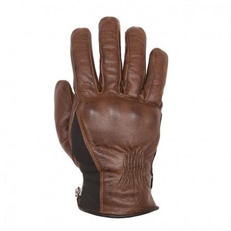 Men's Gloves HELSTONS GANTS HELSTONS PURE HIVER CUIR CAMEL NOIR 20190049 CN