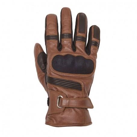 Men's Gloves HELSTONS GANTS HELSTONS VERTIGO HIVER CUIR CAMEL NOIR 20190050 CN