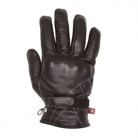 Men's Gloves HELSTONS GANTS HELSTONS WAVE HIVER CUIR NOIR 20190051 NO