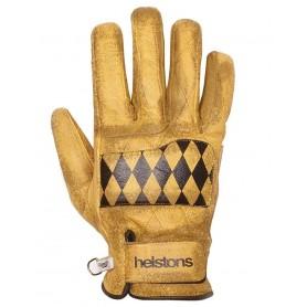 Men's Gloves HELSTONS GANTS HELSTONS DIAMOND HIVER CUIR GOLD NOIR 20190055 GNO