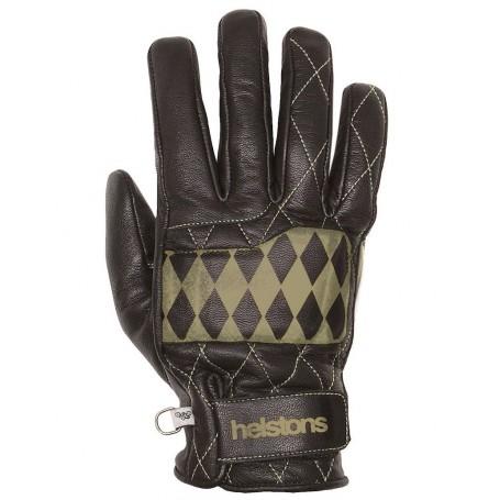 Men's Gloves HELSTONS GANTS HELSTONS DIAMOND HIVER CUIR NOIR BEIGE 20190055 NB