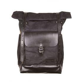 Bags HELSTONS HELSTONS BACK PACK PLUS (SAC À DOS) TOILE-CUIR NOIR-NOIR 20190057 NN