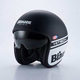 Jets Helmets BLAUER BLAUER PILOT BLACK/WHITE MATTE HELMET BLCJ104