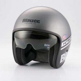 Jets Helmets BLAUER BLAUER PILOT GREY/BLACK MATTE HELMET BLCJ107