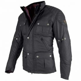 Men's Jackets By City BY CITY LONDON BLACK WAX FABRIC JACKET