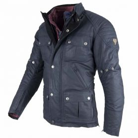 Men's Jackets By City BY CITY LONDON BLUE WAX FABRIC JACKET