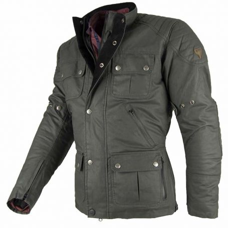 Men's Jackets By City BY CITY LONDON GREEN WAX FABRIC JACKET
