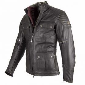 Men's Jackets By City BY CITY LEGEND II BROWN LEATHER JACKET