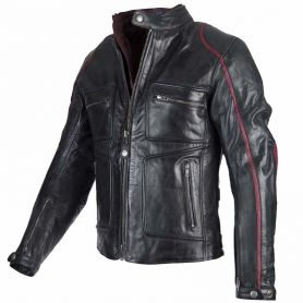 BLOUSON BY CITY LEMANS CUIR NOIR