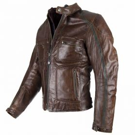 BLOUSON BY CITY LEMANS CUIR MARRON