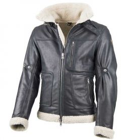 BLOUSON BY CITY EAGLE  CUIR NOIR