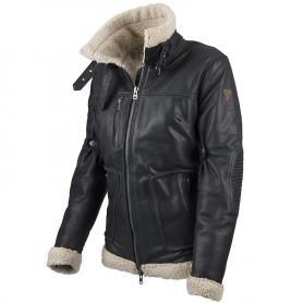 BLOUSON BY CITY EAGLE LADY CUIR NOIR