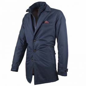 Men's Jackets By City BY CITY TRENCH BLUE FABRIC JACKET