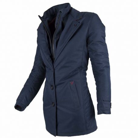 Women's Jackets By City BY CITY TRENCH LADY BLUE FABRIC JACKET