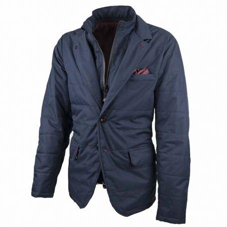 Men's Jackets By City BY CITY GRACE BLUE FABRIC JACKET 4000085
