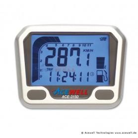 Compteurs ACEWELL COMPTEUR DIGITAL ACEWELL MODELE 3150 QUAD TGB SILVER ACE-3150-TGB-S