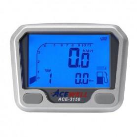 Compteurs ACEWELL COMPTEUR DIGITAL ACEWELL MODELE 3150 QUAD TGB NOIR ACE-3150-TBG-N