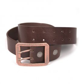 Belts HELSTONS HELSTONS DOUBLE D BELT CEINTURON MARRON 20180089 M