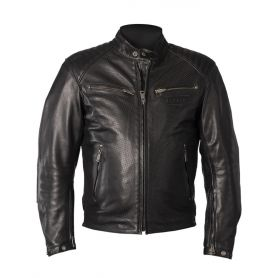 Men's Jackets HELSTONS HELSTONS JACKET CLASSICO LEATHER BUFFLE PERFORÉ BLACK