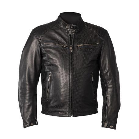 Men's Jackets HELSTONS HELSTONS JACKET CLASSICO LEATHER BUFFLE PERFORÉ BLACK