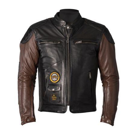 Men's Jackets HELSTONS HELSTONS JACKET TRACKER LEATHER RAG BLACK-TAN