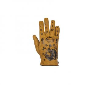 Women's Gloves HELSTONS HELSTONS LADY GLOVES PANTHER SUMMER LEATHER GOLD
