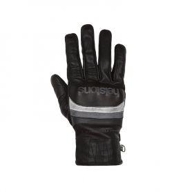 Men's Gloves HELSTONS HELSTONS GLOVES MORA SUMMER LEATHER BLACK-WHITE-GRAY