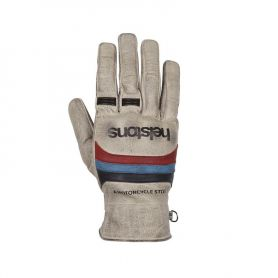 Men's Gloves HELSTONS HELSTONS GLOVES MORA SUMMER LEATHER BEIGE-BLUE-RED