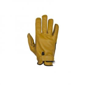 HELSTONS GLOVES HIRO SUMMER SOFT LEATHER GOLD-BLACK
