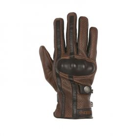Men's Gloves HELSTONS HELSTONS GLOVES EAGLE SUMMER LEATHER TAN-BLACK