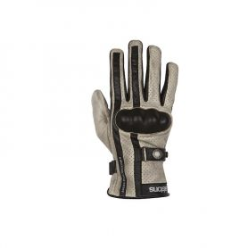 Men's Gloves HELSTONS HELSTONS GLOVES EAGLE SUMMER LEATHER BEIGE-BLACK