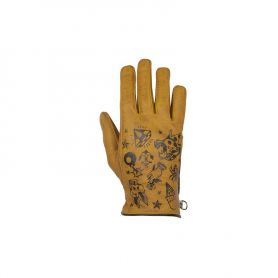 Women's Gloves HELSTONS HELSTONS LADY GLOVES CREAM SUMMER LEATHER GOLD
