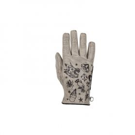 Women's Gloves HELSTONS HELSTONS LADY GLOVES CREAM SUMMER LEATHER BEIGE-BLACK