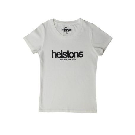 Tee-Shirts Femmes HELSTONS T-SHIRT LADY HELSTONS CORPORATE GIRL COTON WHITE
