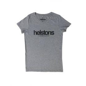 T-SHIRT FEMME HELSTONS CORPORATE GIRL COTON GRIS