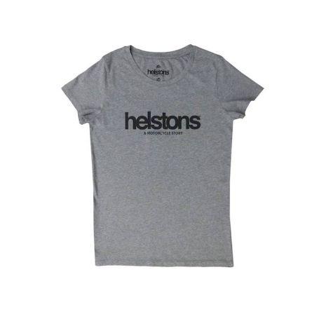 Tee-Shirts Femmes HELSTONS T-SHIRT LADY HELSTONS CORPORATE GIRL COTON GRAY