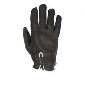HELSTONS GLOVES HIRO SUMMER SOFT LEATHER BLACK-WHITE